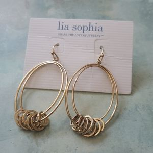 NWT lia Sophia tangle wire earrings